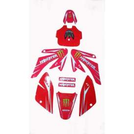 Adhesivos Pitbike Monster Energy CRF50/CRF70