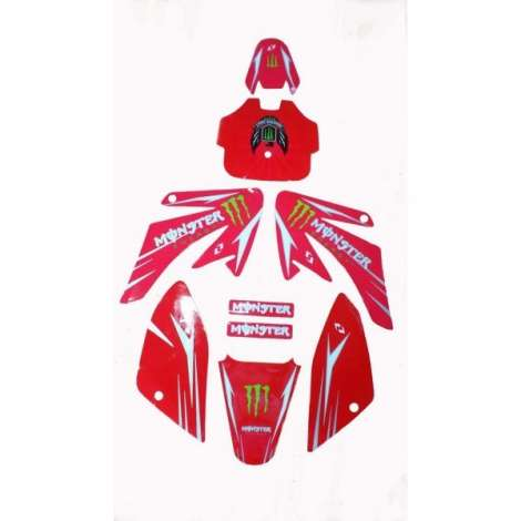 Adhesivos Pitbike Monster Energy CRF50/CRF70