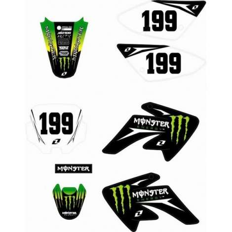 Adhesivos Pitbike Monster Energy CRF70