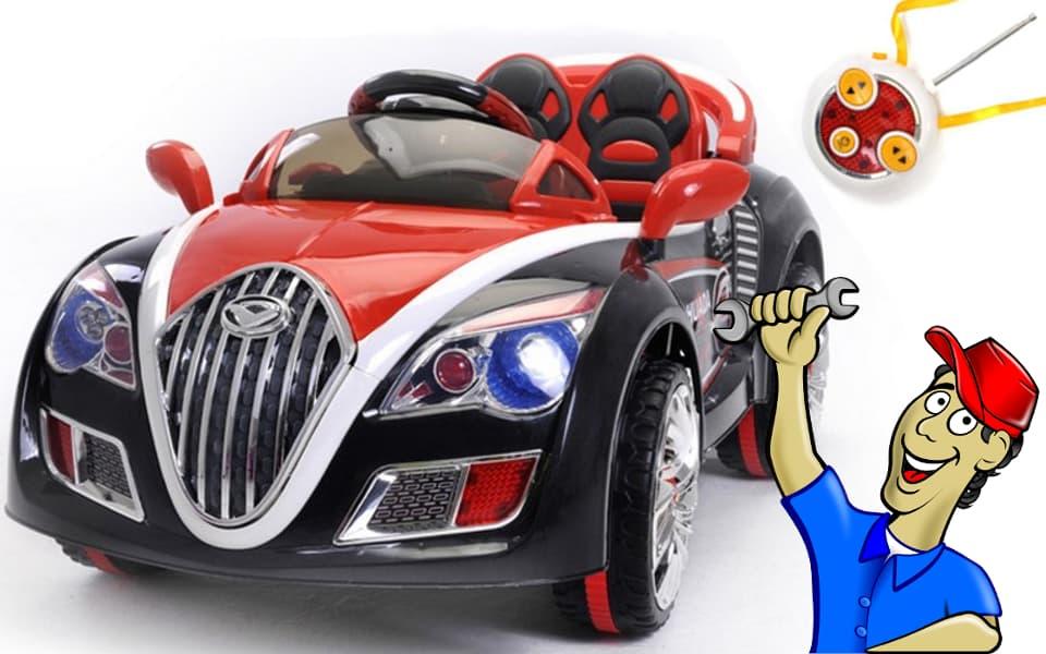 Esquema de funcionamiento de un coche eléctrico para niños