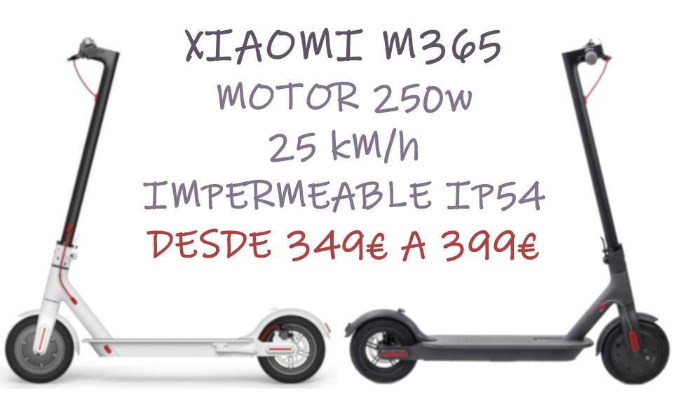 XIAOMI M365 25KM/H IMPERMEABLE CON MOTOR 250W